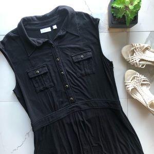 New York & Company Black Sleeveless Mini Dress